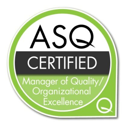 ASQ Certified Manager of Quality and Organizational Excellence